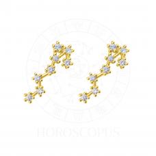 """Серьги """"Созвездие Скорпион"""" (Золото 585)"""